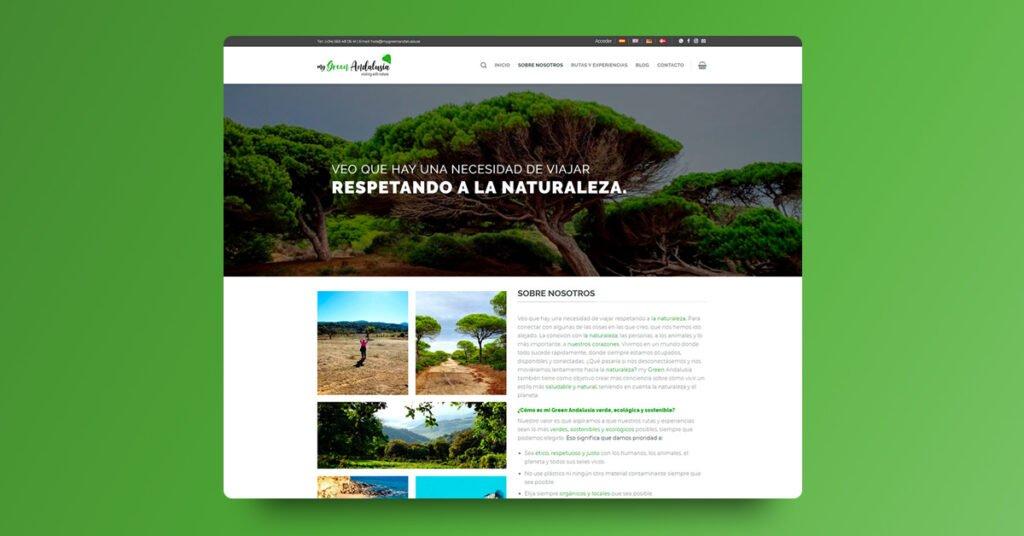 Desarrollo Web y Tienda Online My Green Andalusia, Cádiz - Creaktiva