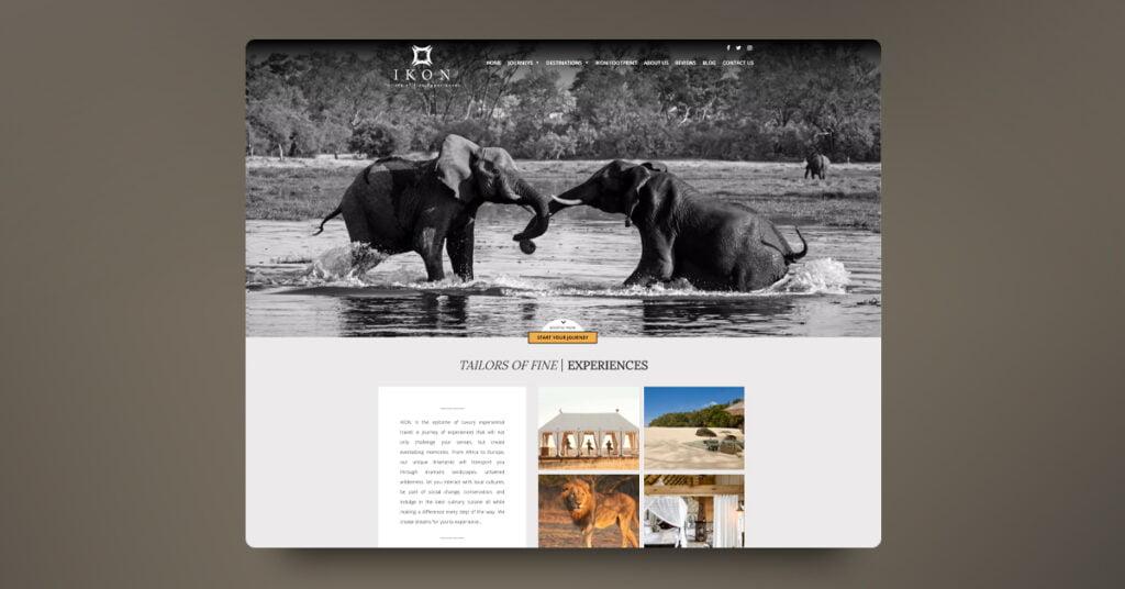 Desarrollo web para agencia de viajes de lujo IKON - Creaktiva