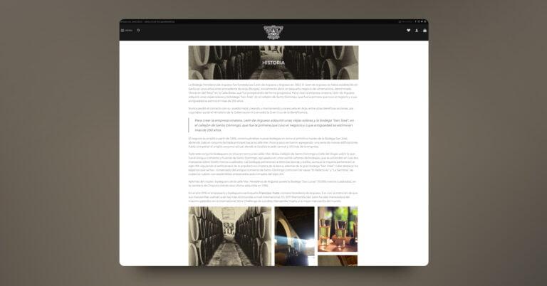 Desarrollo web y tienda Online Bodegas Argüeso - Creaktiva