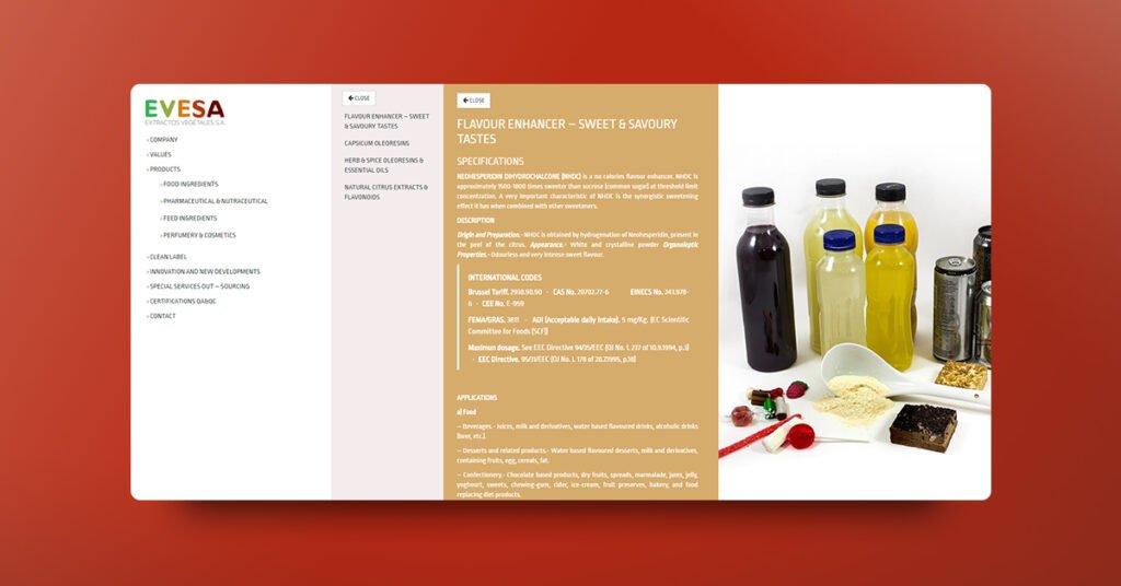 Diseño y programación web EVESA - Creaktiva