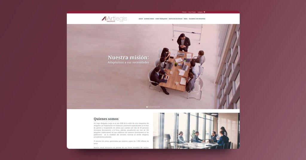 Landing Page Artlegis - Creaktiva