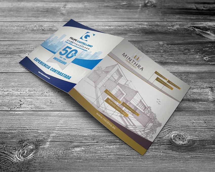Diseño catálogo para Minthra Construcciones - Creaktiva