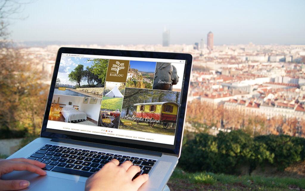 Diseño y programación web Cortijo Bablou - Creaktiva
