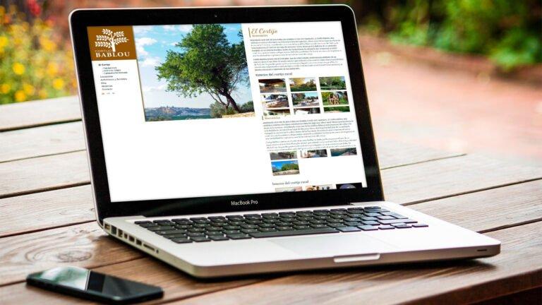 Diseño y programación web WordPress Cortijo Bablou - Creaktiva