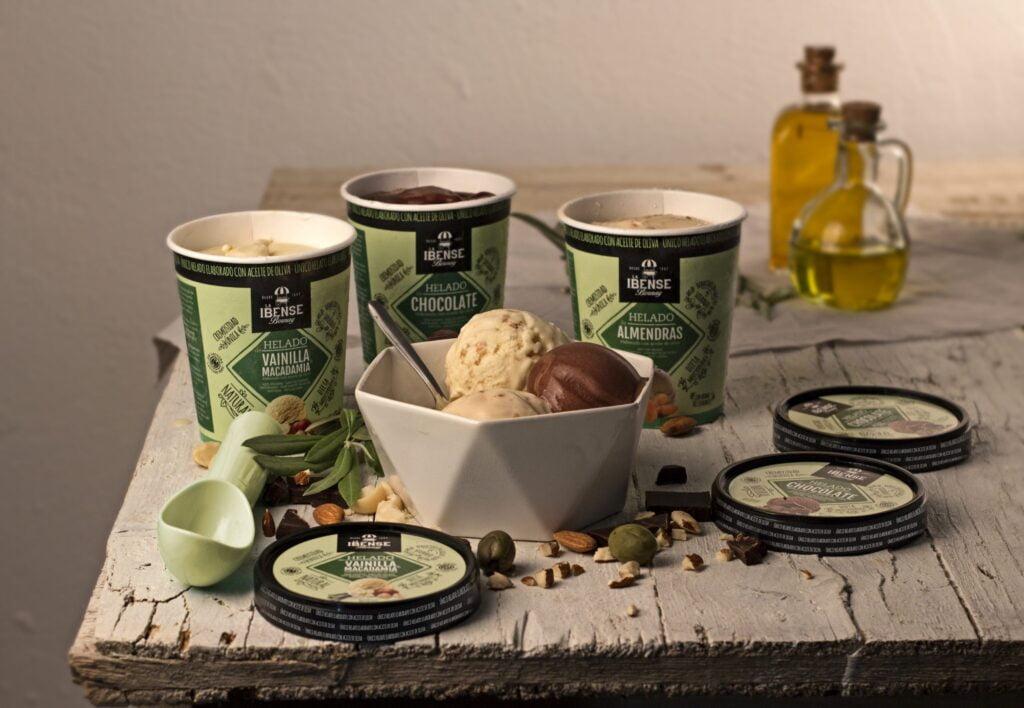 Packaging línea helados con aceite de oliva para La Ibense - Creaktiva