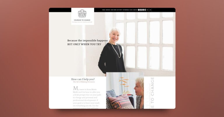 Diseño y programación web para Rosa María Molló - Creaktiva
