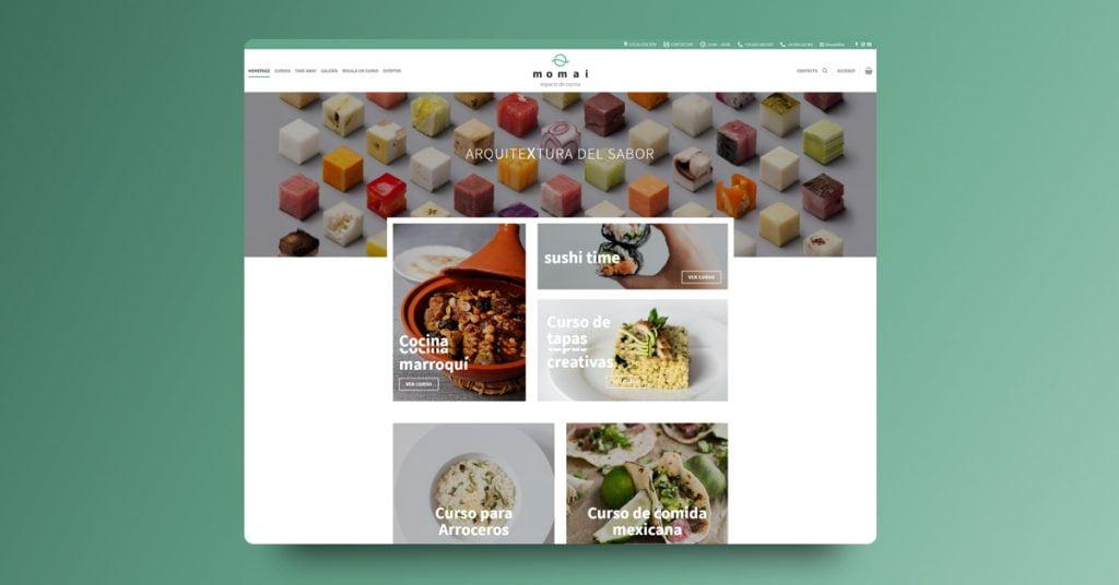 Diseño de Tienda Online Espacio Momai - Creaktiva